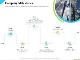 Cloud Service Providers Company Milestones Medal Certification Ppt Powerpoint Layouts