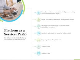 Cloud Service Providers Platform As A Service Coding Needed Ppt Powerpoint Professional