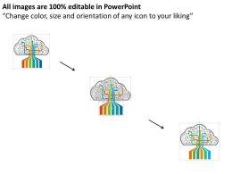 Cloud Services For Business Management Flat Powerpoint Design