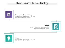 Cloud Services Partner Strategy Ppt Powerpoint Presentation Summary Clipart Cpb
