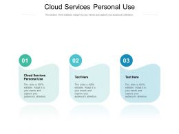Cloud Services Personal Use Ppt Powerpoint Presentation Gallery Outline Cpb