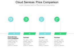 Cloud Services Price Comparison Ppt Powerpoint Presentation Infographic Template Design Ideas Cpb