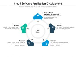 Cloud Software Application Development Ppt Powerpoint Presentation Infographics Graphics Cpb