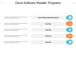 Cloud Software Reseller Programs Ppt Powerpoint Presentation Pictures Icons Cpb