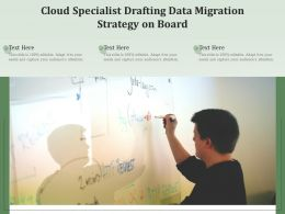Cloud Specialist Drafting Data Migration Strategy On Board