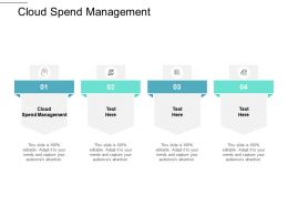 Cloud Spend Management Ppt Powerpoint Presentation Inspiration Graphics Pictures Cpb