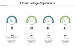 Cloud Storage Applications Ppt Powerpoint Presentation Outline Infographics Cpb