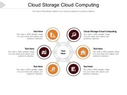 Cloud Storage Cloud Computing Ppt Powerpoint Presentation Guide Cpb