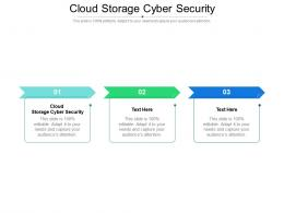 Cloud Storage Cyber Security Ppt Powerpoint Presentation Deck Cpb