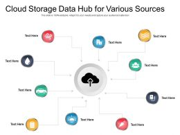 Cloud Storage Data Hub For Various Sources