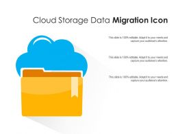 Cloud Storage Data Migration Icon
