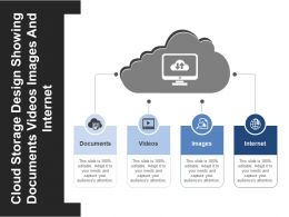 Cloud Storage Design Showing Documents Videos Images And Internet