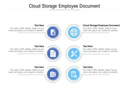 Cloud Storage Employee Document Ppt Powerpoint Presentation Icon Shapes Cpb
