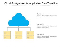 Cloud Storage Icon For Application Data Transition