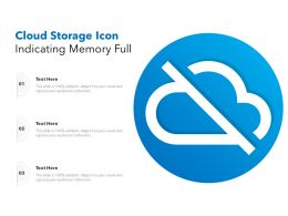 Cloud Storage Icon Indicating Memory Full