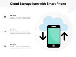 Cloud Storage Icon With Smart Phone