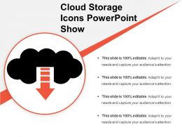 Cloud Storage Icons Powerpoint Show