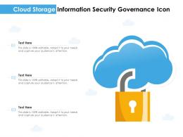 Cloud Storage Information Security Governance Icon
