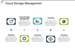 Cloud Storage Management Ppt Powerpoint Presentation Infographic Template Files Cpb