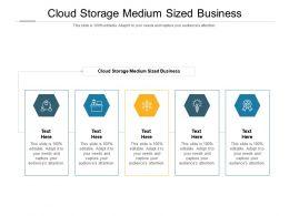 Cloud Storage Medium Sized Business Ppt Powerpoint Presentation Styles Format Ideas Cpb