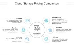 Cloud Storage Pricing Comparison Ppt Powerpoint Presentation File Background Cpb