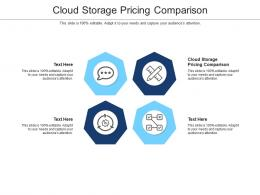 Cloud Storage Pricing Comparison Ppt Powerpoint Presentation Introduction Cpb