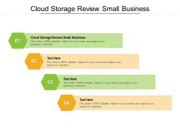 Cloud Storage Review Small Business Ppt Powerpoint Summary Example File Cpb