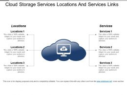 Cloud Storage Services Locations And Services Links