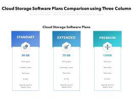Cloud Storage Software Plans Comparison Using Three Column