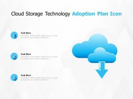 Cloud Storage Technology Adoption Plan Icon