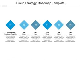 Cloud Strategy Roadmap Template Ppt Powerpoint Presentation Outline Icons Cpb