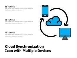 Cloud Synchronization Icon With Multiple Devices