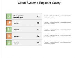 Cloud Systems Engineer Salary Ppt Powerpoint Presentation Portfolio Brochure Cpb