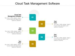 Cloud Task Management Software Ppt Powerpoint Presentation Infographics Pictures Cpb