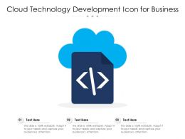 Cloud Technology Development Icon For Business