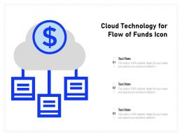 Cloud Technology For Flow Of Funds Icon