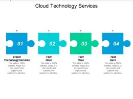 Cloud Technology Services Ppt Powerpoint Presentation Gallery Brochure Cpb