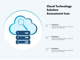 Cloud Technology Solution Assessment Icon