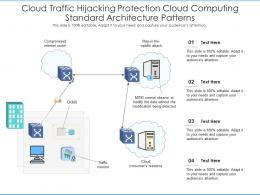 Cloud Traffic Hijacking Protection Cloud Computing Standard Architecture Patterns Ppt Diagram