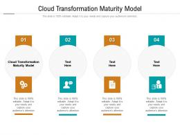 Cloud Transformation Maturity Model Ppt Powerpoint Presentation Pictures Clipart Images Cpb