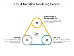 Cloud Transition Monitoring Service Ppt Powerpoint Presentation Outline Influencers Cpb