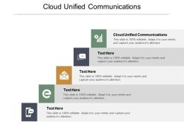 Cloud Unified Communications Ppt Powerpoint Presentation Pictures Icons Cpb