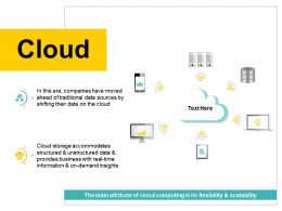 Cloud Unstructured Data And Provides Business Ppt Powerpoint Presentation Infographics Vector