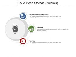 Cloud Video Storage Streaming Ppt Powerpoint Presentation Pictures Display Cpb