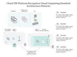 Cloud VM Platform Encryption Cloud Computing Standard Architecture Patterns Ppt Powerpoint Slide