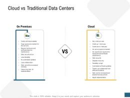 Cloud Vs Traditional Data Centers Devops Ppt Icons