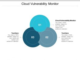 Cloud Vulnerability Monitor Ppt Powerpoint Presentation Slides Infographics Cpb