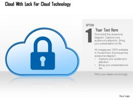 Cloud With Lock For Cloud Technology Ppt Slides