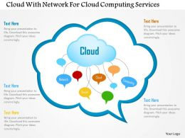 Cloud With Network For Cloud Computing Services Ppt Slides