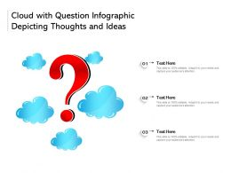 Cloud With Question Infographic Depicting Thoughts And Ideas